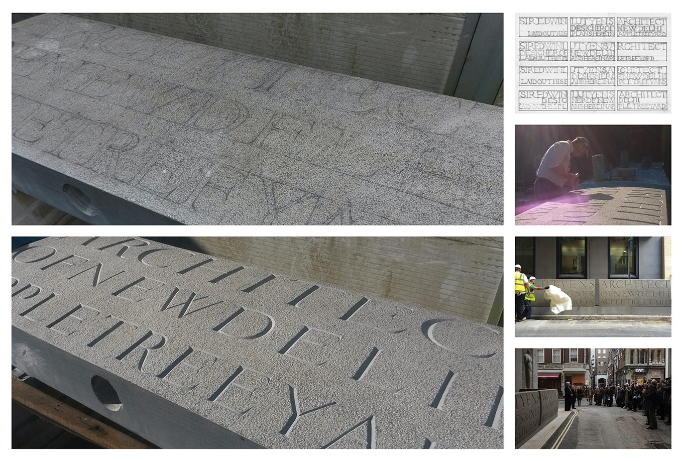 St James's Square Typesetting for Stone Carving